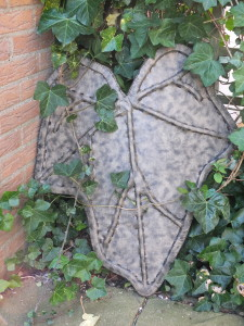 FinishedIvy Leaf Wooden Shield